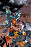 Uncanny X-Men: First Class No7 Cover: Colossus and Wolverine