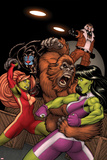 She-Hulks No2 Cover: She-Hulk and Lyra Fighting