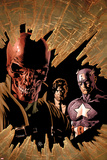 New Avengers No12 Cover: Red Skull  Captain America  and Nick Fury
