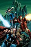 Thor No81 Cover: Thor  Iron Man and Captain America