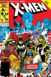 X-Men Annual No10 Cover: Warlock  Sunspot  Wolfsbane and New Mutants