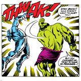 Marvel Comics Retro: The Incredible Hulk Comic Panel  Fighting  Thwak!