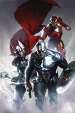 Secret Invasion No6 Cover: Captain America  Thor and Iron Man