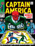Marvel Comics Retro: Captain America Comic Book Cover No103  Red Skull  the Weakest Link