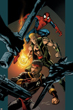 Ultimate Spider-Man No85 Cover: Spider-Man  Shang-Chi and Iron Fist