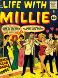 Marvel Comics Retro: Life with Millie Comic Book Cover No13  Bathing Suit  Beach Club Dance