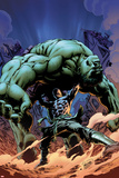 Incredible Hulks No616 Cover: Hiro-Kala and Hulk Fighting