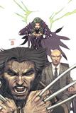 Uncanny X-Men No443 Cover: Wolverine  Polaris and Professor X