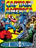 Marvel Comics Retro: Captain America Comic Book Cover No101  Red Skull  When Wakes the Sleeper