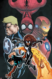 Avengers Academy Giant-Size No1 Cover: Spider-Girl  Firestar  Reptil  Iron Man and Others