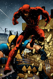 Wolverine No24 Cover: Daredevil and Wolverine