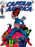 Marvel Comics Retro: Captain America Comic Book Cover No111  with Hydra and Bucky