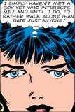 Marvel Comics Retro: Love Comic Panel  Proud Single Woman
