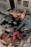 Marvel Knights Spider-Man No15 Cover: Spider-Man and Crusher Creel Fighting