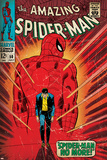 Marvel Comics Retro: The Amazing Spider-Man Comic Book Cover No50  Spider-Man No More! (aged)