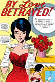 Marvel Comics Retro: By Love Betrayed Comic Panel  Evening Gown and Gloves  with Roses