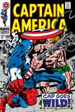 Marvel Comics Retro: Captain America Comic Book Cover No106  Cap Goes Wild