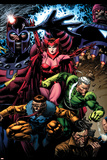 X-Men: Legacy No209 Cover: Toad  Quicksilver  Scarlet Witch and Magneto