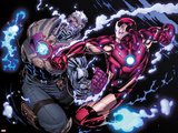Avengers: X-Sanction No2: Cable and Iron Man Fighting