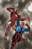 Eternals No4 Cover: Iron Man and Ikaris