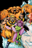 Exiles No60 Cover: Sabretooth  Blink  Sasquatch and Beak