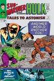 Tales to Astonish No73 Cover: Hulk and Uatu The Watcher