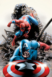 Spectacular Spider-Man No15 Cover: Captain America and Spider-Man