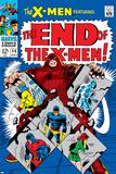 X-Men No46 Cover: Juggernaut  Cyclops  Beast  Angel  Grey  Jean and X-Men