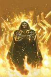FF No2 Cover: Dr Doom Standing in Flames