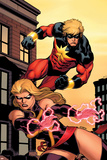 Captain Marvel No2 Cover: Captain Marvel and Ms Marvel