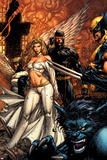 Uncanny X-Men No494 Cover: Beast  Emma Frost  Cyclops and Wolverine