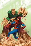 Marvel Age Spider-Man No17 Cover: Spider-Man and Sandman
