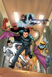 Avengers Acadmey No141 Cover: Reptil  Hazmat  Striker  Mettle  Finesse  Veil