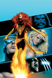 X-Men: Phoenix - Endsong No2 Cover: Phoenix  Beast  Emma Frost  Cyclops and Wolverine