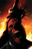 Captain America No614 Cover:  Red Skull Screaming