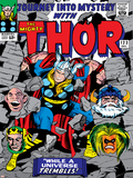 Marvel Comics Retro: The Mighty Thor Comic Book Cover No123  Mystery  Absorbing Man  Odin & Loki