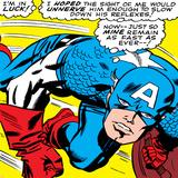 Marvel Comics Retro: Captain America Comic Panel  Monologue  I'm in Luck!