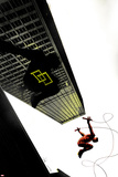 Daredevil: Reborn No4 Cover: Daredevil Jumping from Buildings