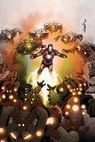 Invincible Iron Man No512 Cover: iron Man Flying
