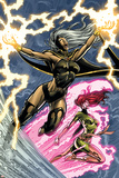 Uncanny X-Men: First Class No6 Cover: Storm and Phoenix