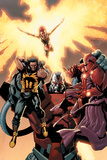 Ultimate X-Men No93 Cover: Wolverine  Phoenix  Apocalypse and Onslaught