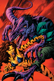 Avengers Academy No6 Cover: Tigra and Reptil Fighting
