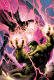 Incredible Hulks No619 Cover: Hulk and Dr Strange Fighting
