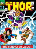 Marvel Comics Retro: The Mighty Thor Comic Book Cover No129  The Verdict of Zeus  Hercules