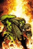 Incredible Hulks No618 Cover: Hulk and Abomination Fighting