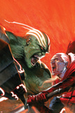 Fear Itself: Hulk vs Dracula No1 Cover: Hulk and Dracula Fighting and Screaming
