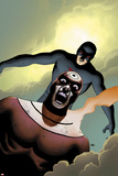 Shadowland No4 Cover: Bullseye and Daredevil Flying