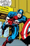 Marvel Comics Retro: Captain America Comic Panel  US naval Hospital