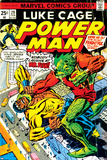 Marvel Comics Retro: Luke Cage  Power Man Comic Book Cover No29  Fighting Mr Fish