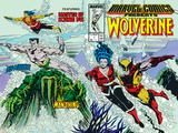 Marvel Comics Presents No7 Cover: Spider-Man  Vulture and Kraven the Hunter Swimming